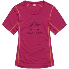 Haglöfs W's Intense Logo Tee VOLCANIC PINK